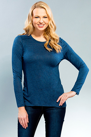 Women Long Sleeve Round Neck Top