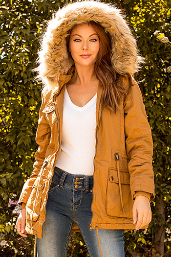 Women Cotton Jacket with Detachable Hood