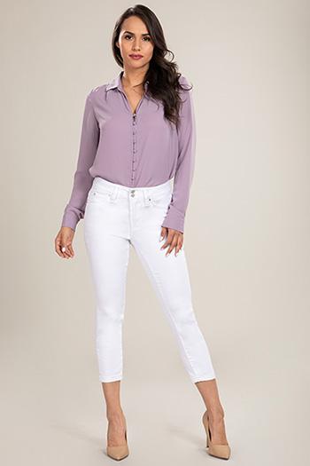 Women Petite 2-Button WannaBettaButt Cuffed Denim Jeans