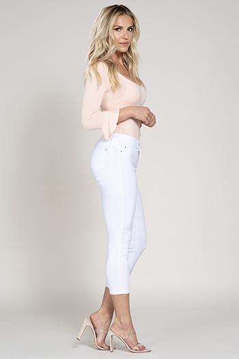 Women Petite Basic Hyperstretch Ankle Jean