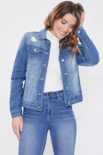 Women Distressed Denim Jacket