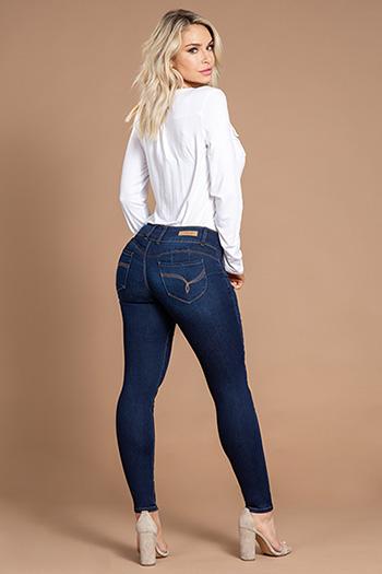 Women WannaBettaButt 3-Button Skinny Jean