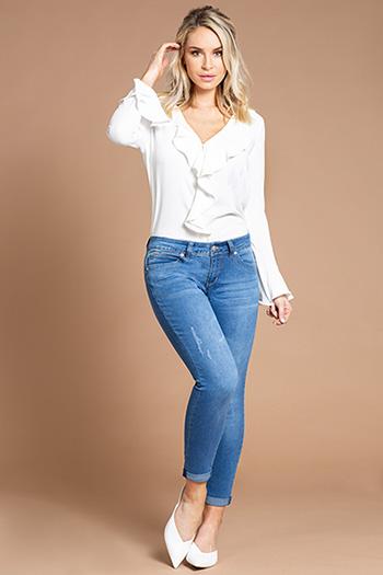 Women WannaBettaButt Rolled Cuff Denim Ankle Jean