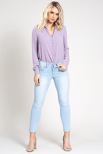 Women WannaBettaButt 3-Button Cuffed Denim Jean