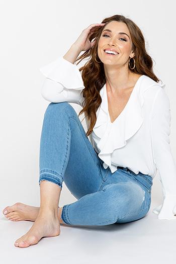 Women WannaBettaButt Slim-Fit Ankle Jean with Released Hem