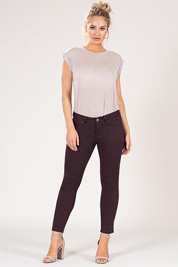 Women Basic Twill Ankle Jean