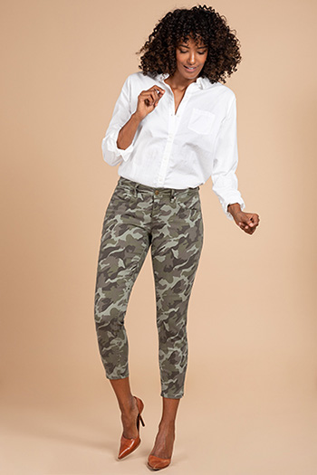 Women Fashion First Camo Ankle Pant