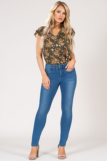 Women Hide Your Muffin Top High-Rise Skinny Jean