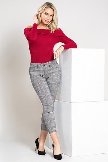 Women Plaid Skinny Pant