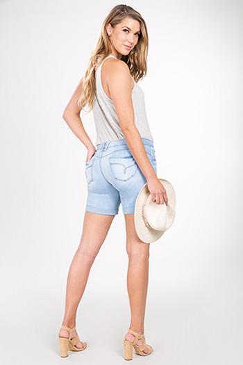 Women WannaBettaButt Denim Cuffed Shorts