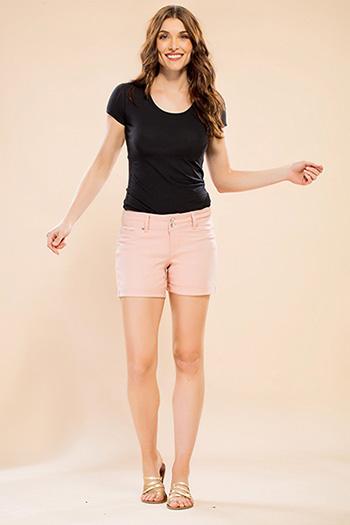 Women Basic 2-Button Cuffed Shorts