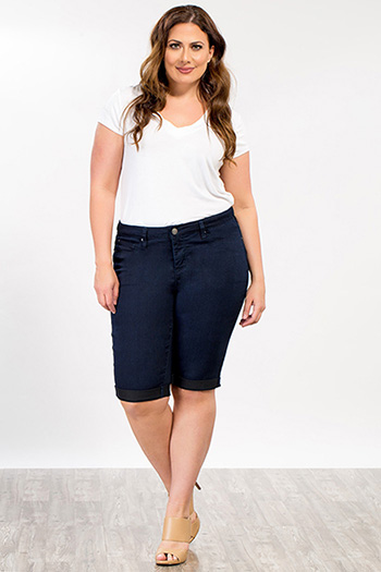 Women Plus Size Super Soft Bermuda
