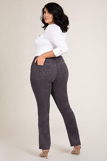 Women Plus Size Straight Leg Corduroy Pants