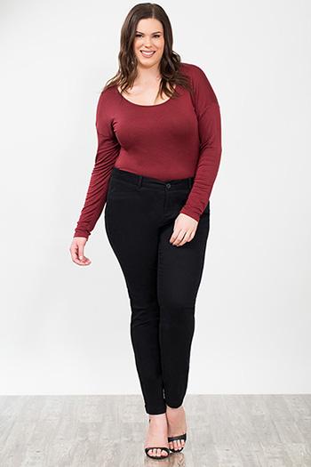 Plus Size Women Twill Trousers