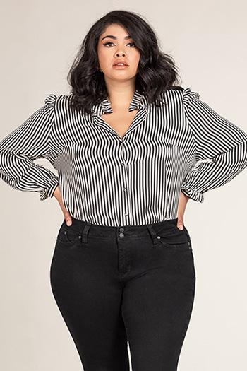 Women Plus Size WannaBettaButt 2-Button Cuffed Jean