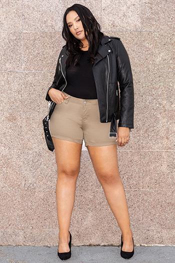 Women Plus Size WannaBettaButt Cuffed Shorts